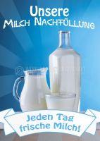 Unsere Milchtankstelle Poster | Jeden Tag frische Milch!