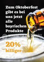 Rabatt auf bayrische Produkte Poster | Poster auch in DIN A 1