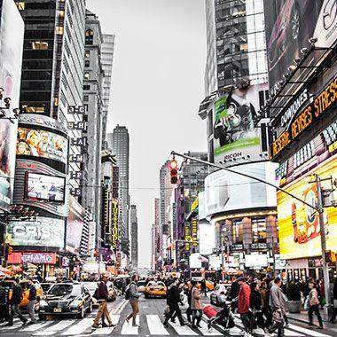 Werbeplakate in Amerika in der City