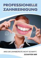 Professionelle Zahnreinigung Poster