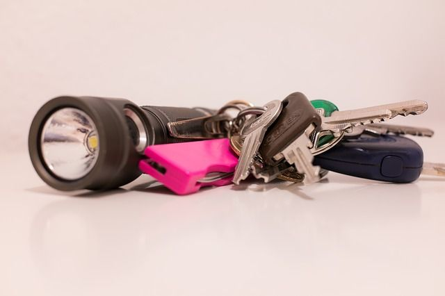 Taschenlampe am Schlüsselring