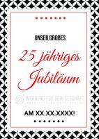 25 jähriges Jubiläum Poster | Werbeschild für Jubiläum