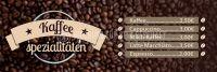 3:1 | Kaffee Spezialitäten Poster | Werbebanner für dein Cafe | 3 zu 1 Format
