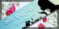 2:1 | Sehr gepflegt in den Frühling Werbeplakat | Banner für dein Kosmetikstudio | 2 zu 1 Format