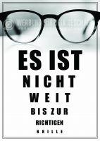 Richtige Brille Poster | Werbebanner für Optiker