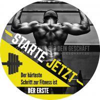 Rund | Starte jetzt Poster | Werbeposter für Fitnessstudio | Rundformat
