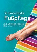 Professionelle Fußpflege Werbebanner | Werbung für Plakatständer