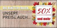 2:1 | Die Blätter fallen Poster | Werbetafel für Geschäfte | 2 zu 1 Format