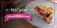 2:1 | Köstlicher Pflaumenkuchen Plakat | Werbeplakat für Bäckerei | 2 zu 1 Format