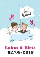 Just Married Poster | Werbebanner