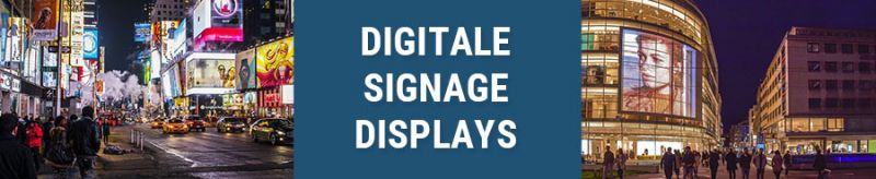 Banner für digitale Signage Displays