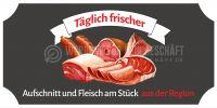 2:1 | Aufschnitt und Fleisch aus der Region Poster | Werbeposter für Metzger | 2 zu 1 Format