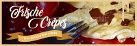3:1 | Frische Crepes Plakat | Werbeschild für Eiscafes | 3 zu 1 Format