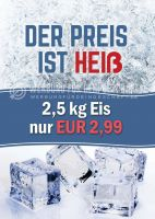 Der Preis ist Heiß Poster | Werbebanner für Eis