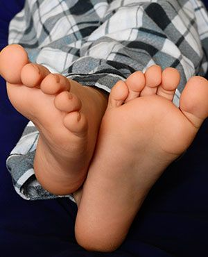 Gepflegte Füße auch auf Flyern