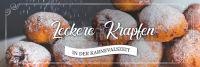 3:1 | Leckere Krapfen Plakat | Werbeplakat für Bäckerei | 3 zu 1 Format