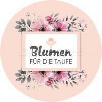 Rund | Blumen für die Taufe Poster | Plakat drucken | Rundformat