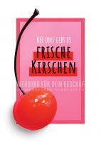 Frische Kirschen Werbebanner | Werbeposter für Plakatständer
