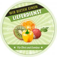Rund | Obst und Gemüse Lieferdienst Plakat | Werbeplakat für Gemüsehändler | Rundformat
