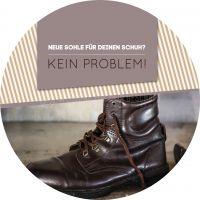 Rund | Neue Sohle für deinen Schuh? Werbeposter | Poster kaufen | Rundformat