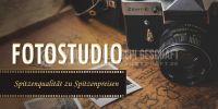 2:1 | Fotostudio Plakat | Plakatwerbung für Fotostudios | 2 zu 1 Format