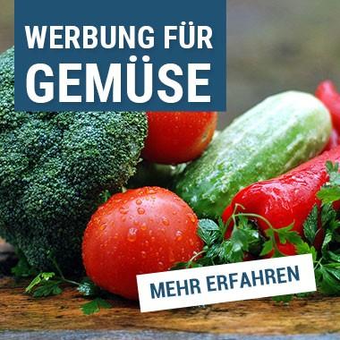 Werbung für frisches Gemüse