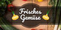 2:1 | Frisches Gemüse Plakat | Werbeplakat Gemüse | 2 zu 1 Format