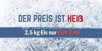 2:1 | Der Preis ist Heiß Poster | Werbebanner für Eis | 2 zu 1 Format