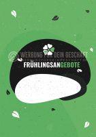 Frühlingsangebote Werbeschild | Werbeplakat drucken lassen