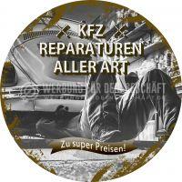Rund | KFZ Reparaturen aller Art Poster | Zu super Preisen! | Rundformat
