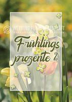 Frühlings Prozente Poster | Werbeposter für Geschäfte