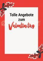 Angebote zum Valentinstag Poster | Werbebanner für Valentinstag