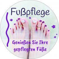 Rund   Fußpflege Poster   Genießen Sie Ihre gepflegten Füße   Rundformat