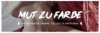 3:1 | Mut zur Farbe Poster | Werbeschild für Friseure | 3 zu 1 Format