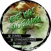 Rund | Neues Kurs Programm Poster | Plakatwerbung für Tanzschulen | Rundformat