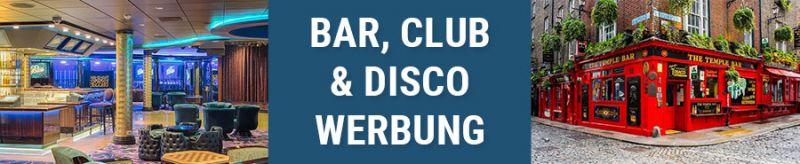 Banner für Bar, Cub und Disco Werbung
