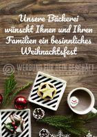 Weihnachtsgruß Plakat | Werbe-Plakat Bäckerei