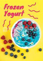Frozen Yogurt Plakat | Werbe-Poster für Frozen Yogurt