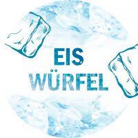 Rund | Eis Würfel Poster | Werbeposter für Geschäfte | Rundformat