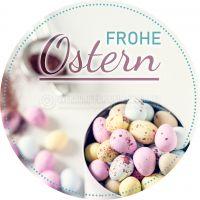 Rund | Frohe Ostern Poster | Werbeplakat drucken lassen | Rundformat
