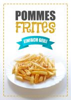Pommes Frites Poster   Werbeplakat Imbiss
