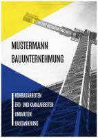 Bauunternehmung Werbeposter | Plakat