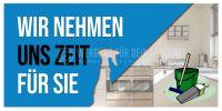2:1 | Wir nehmen uns Zeit Poster | Werbeschild für Reinigung | 2 zu 1 Format