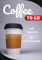 Coffee to go Plakat | Werbebanner Coffee to go