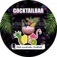 Rund | Cocktailbar Plakat | Werbeschild für Bars und Clubs | Rundformat
