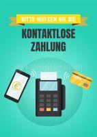 Kontaktlose Zahlung Plakat | Für Werbeaufsteller