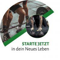 Rund | Starte jetzt Poster | Werbebanner für Fitnessstudios | Rundformat