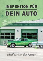 Inspektion für dein Auto Plakat | Poster auch in DIN A 1