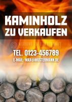 Kaminholz zu verkaufen Poster | Werbeplakat drucken