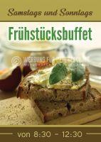 Frühstücksbuffet Werbebanner | Plakatwerbung für Werbeaufsteller